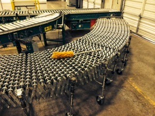 flexible roller conveyor system